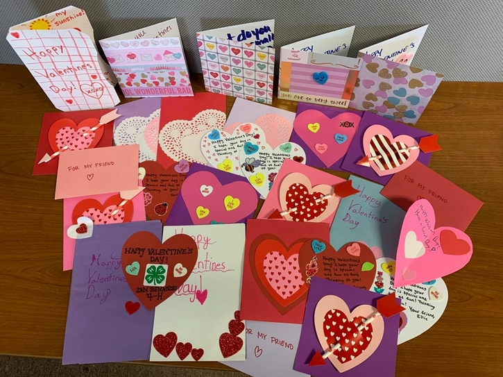 Hand-made Valentine's Delivered to All Seniors